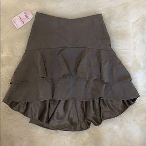 Dresses & Skirts - Tiered ruffle microfiber skirt